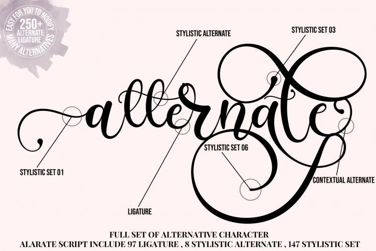 Alarate Script Font-2