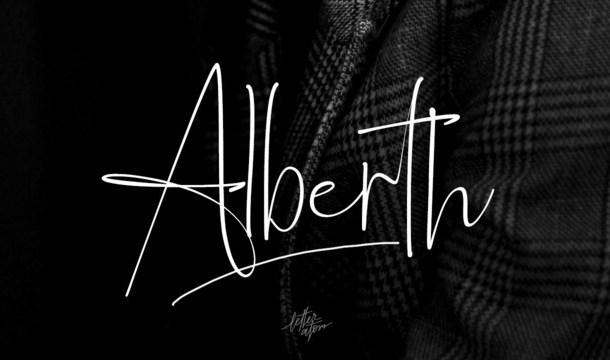 Alberth Signature Font
