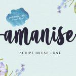 Amanise Script Font