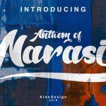 Anthem of Narasi Script Font