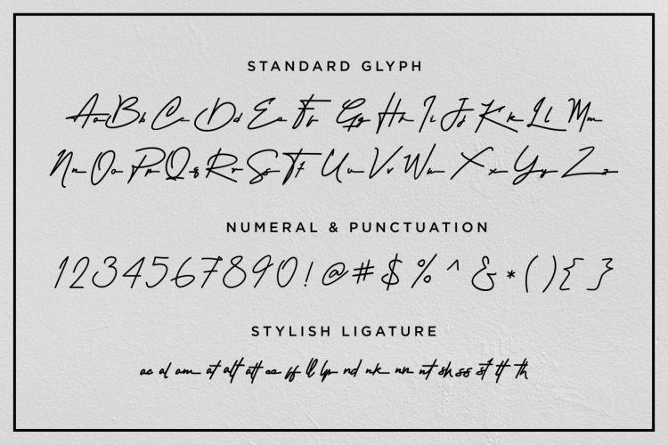Attention Signature Font-3