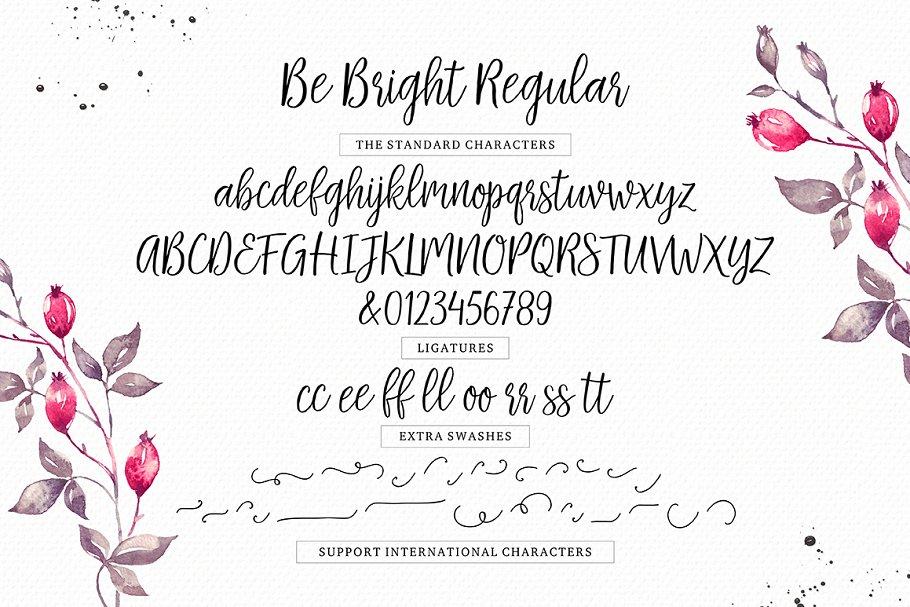 Be Bright Script Font-3