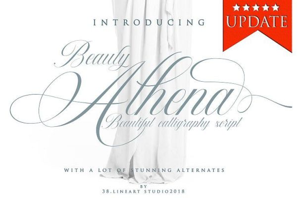 Beauty Athena Calligraphy Font