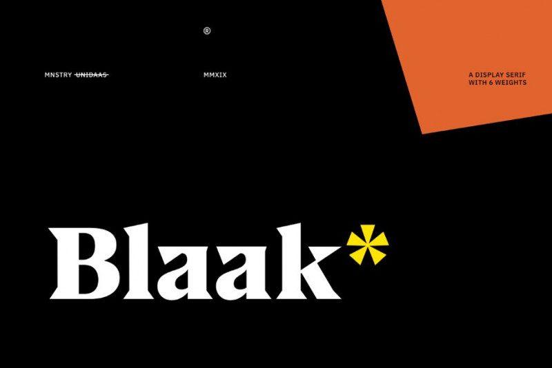 Blaak Serif Font Family