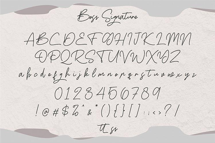 Boss Signature Font-3