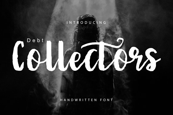Debt Collectors Brush Font