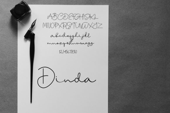 Dinda Handwritten Font-3