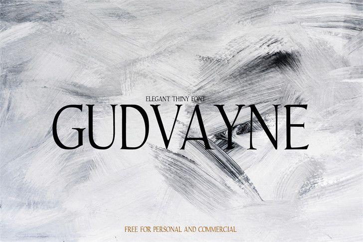Gudvayne Typeface