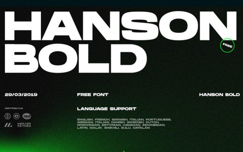 Hanson Bold Font