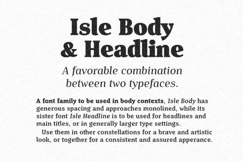 Isle Headline Font Family-2