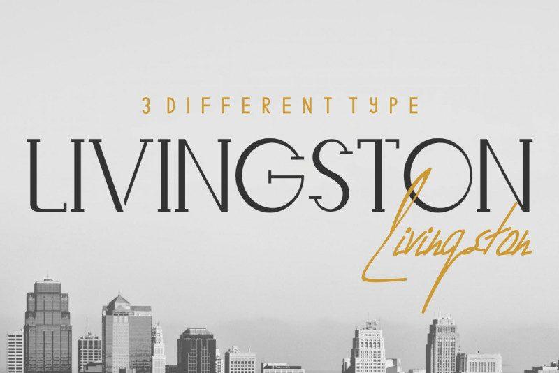 Download Livingston Font Trio - Dafont Free