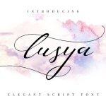 Lusya Handwritten Font