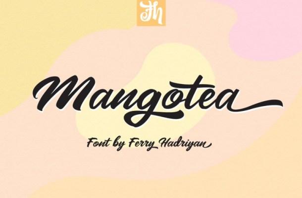 Mangotea Script Font