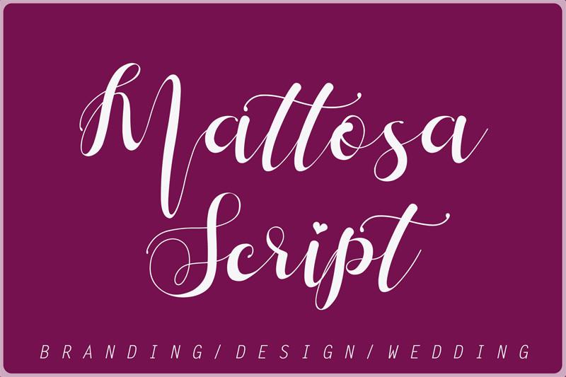 Mattosa Script Font