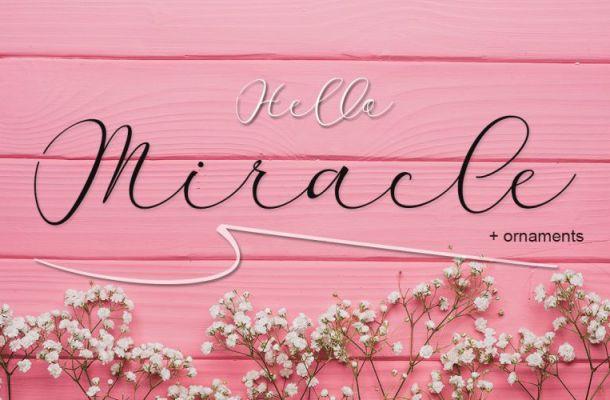 Miracle Script Font