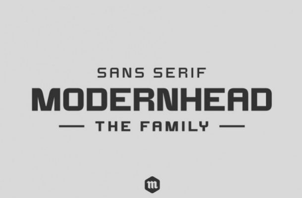 Modernhead Sans Serif Font