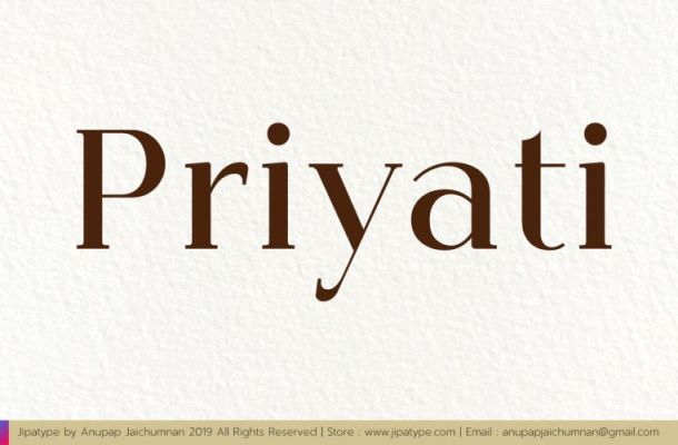 Priyati Serif Font