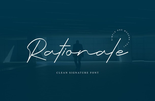 Rationale Handwritten Font