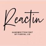 Reactin Signature Font
