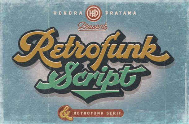 Retrofunk Script Font
