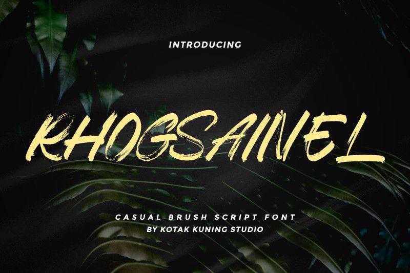 Rhogsainel Brush Font