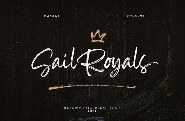 Sail Royals Brush Font