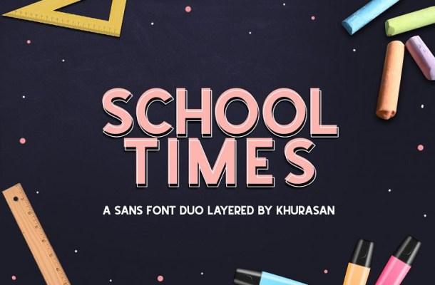 School Times Sans Font