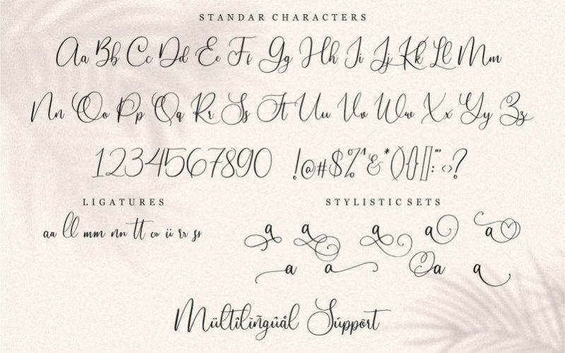Slovenia Calligraphy Font-3