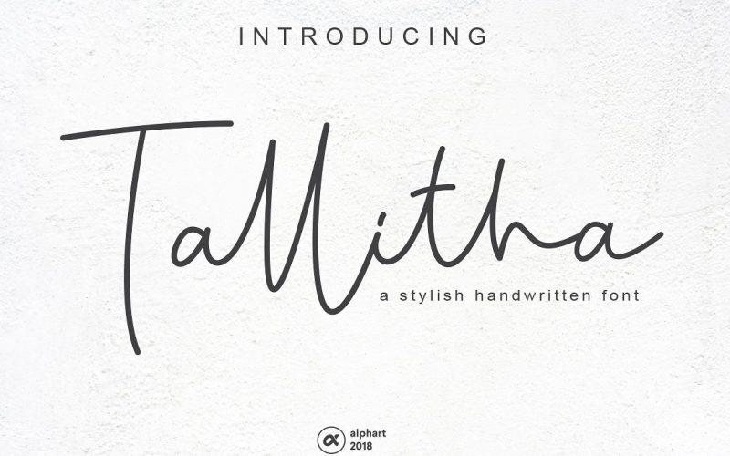 Tallitha Signature Font