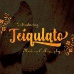 Teiqulato Calligraphy Font
