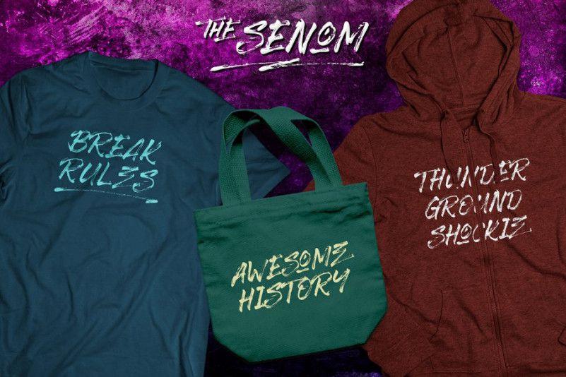 The Senom Brush Font-3