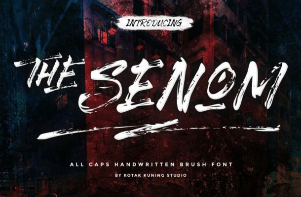 The Senom Brush Font