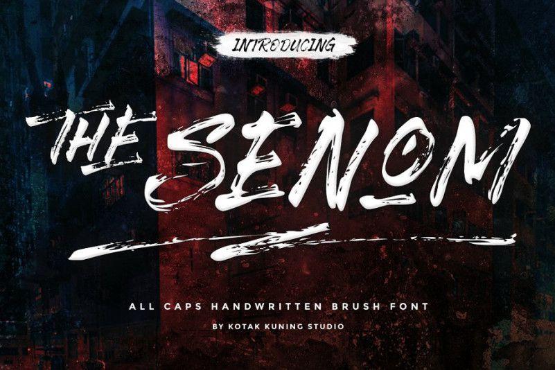 The Senom Brush Font