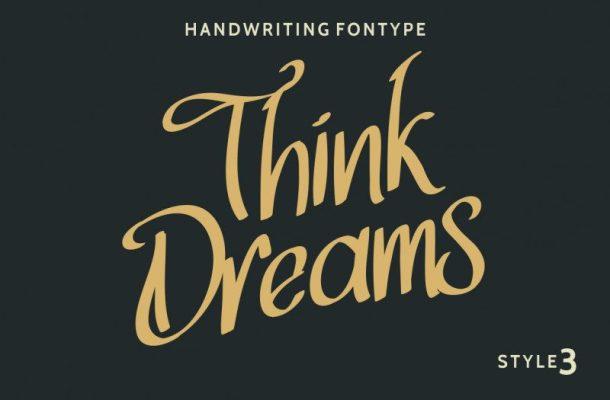 Think Dreams Script Font