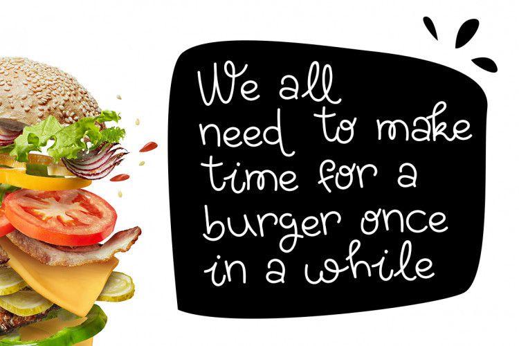 Yummy Burger Handmade Font-3