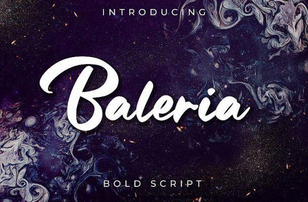 Baleria Script Font