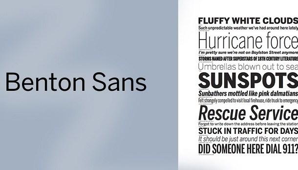 Benton Modern Font Family