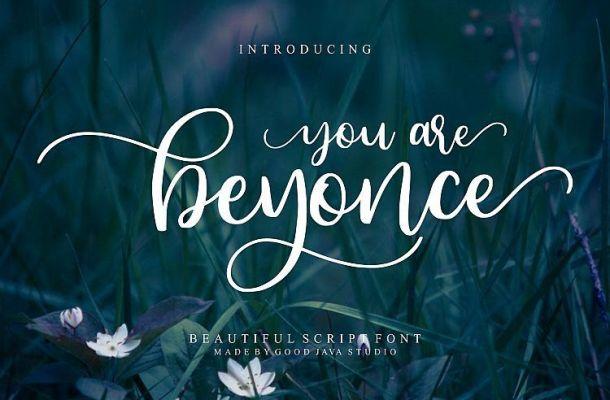 Beyonce Calligraphy Font