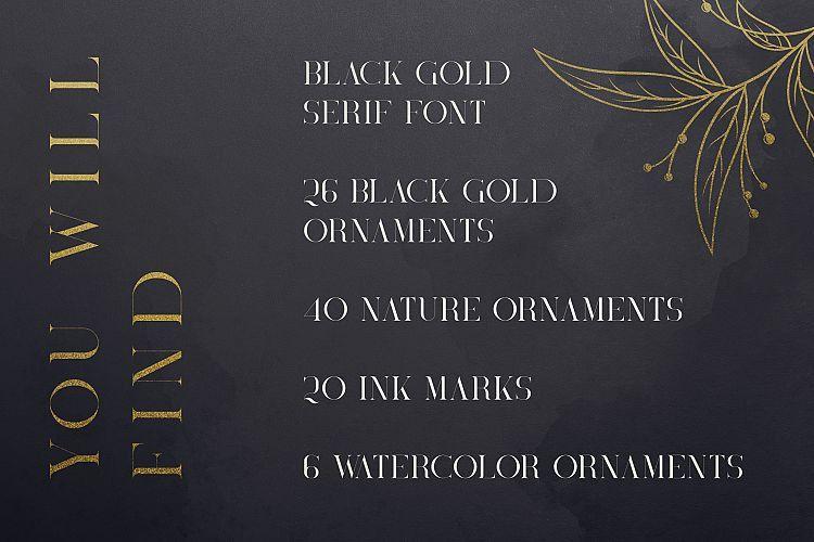 Black Gold Serif Font-2