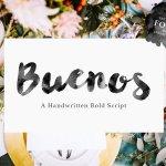 Buenos Script Font
