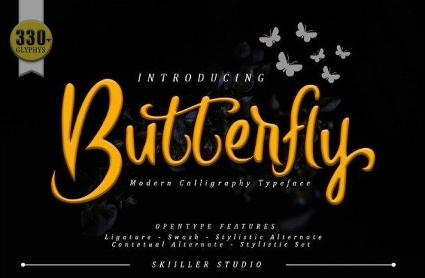 Butterfly Script Font