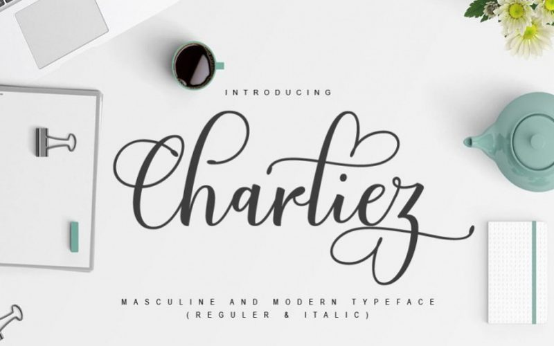 Charliez Calligraphy Font