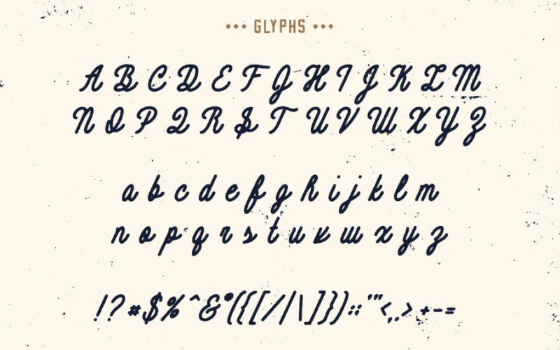 Contraband Monoline Script Font-3