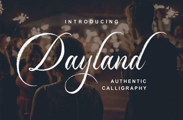 Dayland Calligraphy Font