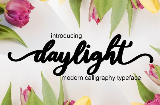 Daylight Calligraphy Font
