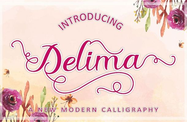 Delima Calligraphy Font
