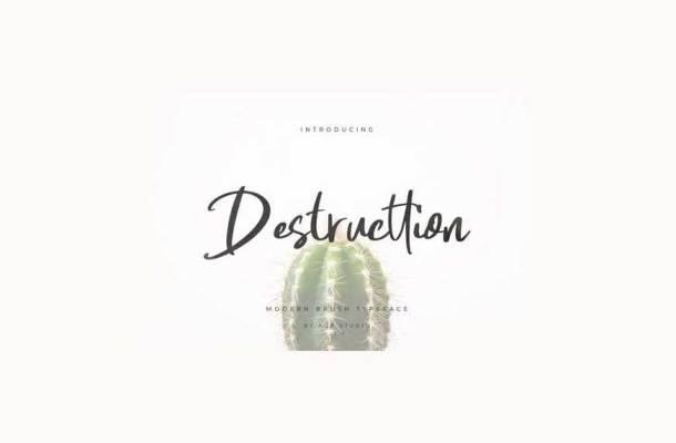 Destructtion Script Font