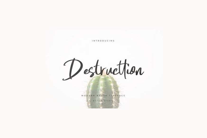 Destructtion Script Font-1