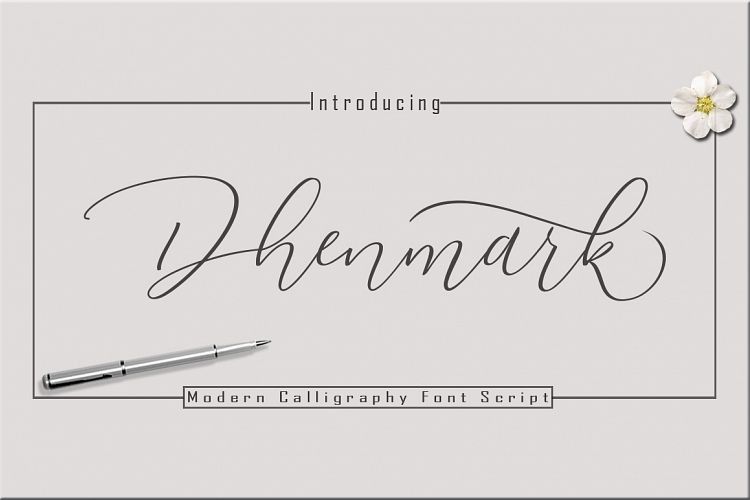 Dhenmark Calligraphy Font