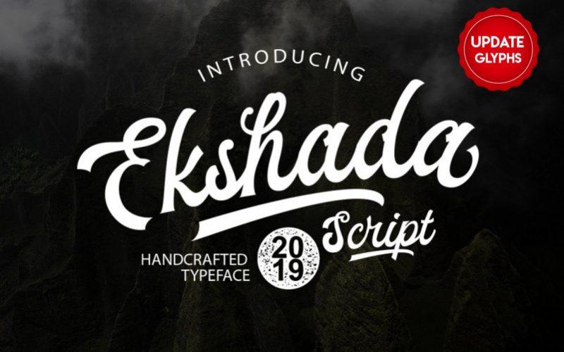 Ekshada Script Font
